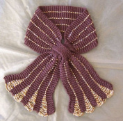 Short Keyhole Beaded Scarf Knitting Pattern