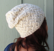 Slouchy Beanie Lattice Knitting Pattern