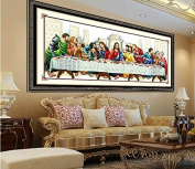 Christian Religious Jesus Christ Cross Stitch The Last Supper Cenacolo Vinciano Needlework Cross-Stitching Decor 10048cm