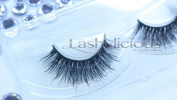 Fluffylicious 100% 3D Mink Eyelashes by Lashylicious Natural Fluffy With Super Felxible Band and Useable 20+ times - Glamorous Thick Fake lashes Extensions