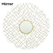 BENZARA Charismatic Metal Wall Mirror / 27273 /