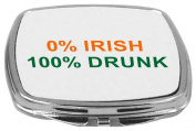 Rikki Knight Compact Mirror, 0% Irish 100% Drunk, 150ml