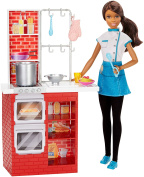 Barbie Spaghetti Chef Doll and Playset, African American for Girls 3 Years and Up
