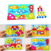 Stebcece Baby Kids Wooden Children Educational Toy Cartoon Puzzle Board Infant Child Toy