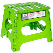 Acko Green 28cm Non Slip Folding Step Stool for Kids and Adults with Handle, Holds up to 110kg