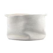 Generic Natural Large Cotton Thread Woven Rope Storage Basket Bin Hamper with Handles for Nursery Kid's Room Storage