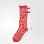Adidas YG Graph 2PP Socks for Children, Multicolor