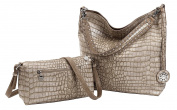Sydney Love Crocodile Reversible Hobo with Additional Cross Body Bag