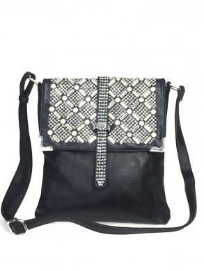 Zzfab Rhinestone Sparkle Top Bling Cross Body Bag