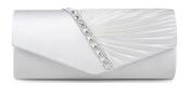 Nodykka Wedding Pleated Envelope Rhinestone Clutches Bag Evening Cross Body Handbags Purse