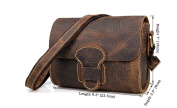 Genda 2Archer Womens Vintage Leather Multifunction Flap Cross Body Messenger Shoulder Satchel Bag