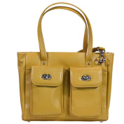 Gun Toten Mamas Cargo Pocket Cowhide Tote Bag-Yellow
