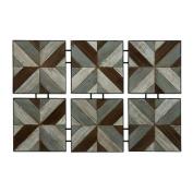 BENZARA Classy Wood Metal Wall Decor / 47918 /