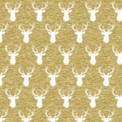Vinyl Boutique Shop Craft Adhesive Gold Glitter Antler Vinyl Sheets Adhesive Vinyl 0224-14