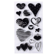 1 Pcs Clear Stamps Silicone For Card Making Christmas Craft Pattern Peacock Heart Transparent Stamp Seal Rubber Postage Design DIY Scrapbooking Photo Album Diary Decoration Supplies Gifts