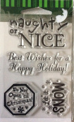 Holiday Clear Stamps - Set of 4 Christmas - #47632