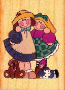 My PAL Wood Mounted Rubber Stamp #807
