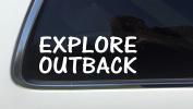 ThatLilCabin - Explore Outback AS394 20cm car sticker decal