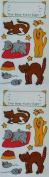 Frances Meyer Kitty Stickers - 10cm - 6.4cm x 11cm