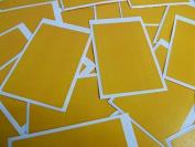 Minilabel 30 Labels, 75X50Mm Rectangular, Amber Dark Yellow, Stickers, Selfadhesive Sticky Dots
