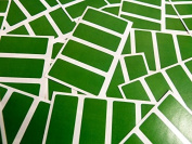 Minilabel 80 Labels, 50X20Mm Rectangular, Mid Green, Stickers, Selfadhesive Sticky Dots
