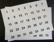 Minilabel Clear 25Mm Round Consecutive, Sequential Number Sequence Labels, Numbering Stickers, From 170