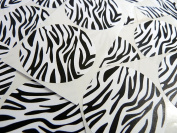 Minilabel 50 Zebra Print, Design, Pattern Sticky Labels, 50Mm Circular, Black And White Stickers, 2 Inch Round Circle, Selfadhesive