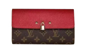 LV Classic gorgeous Red leather Wallets Made in France