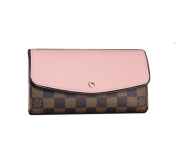 LV Classic gorgeousPink leather Wallets Made in France