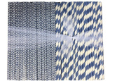 Outside the Box Papers Navy Blue Stripe and Chevron Paper Straws 20cm 500 Pack Navy Blue, White