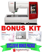 Janome Memory Craft 9900 Sewing/Embroidery Machine w/ EXCLUSIVE BONUS PACKAGE