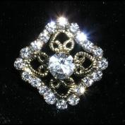 Square Filigree Button #13262 - Gold Plated