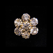 #14053G Dainty Snowflake Button - Gold Plated