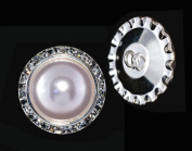 25mm Rondel Button with Imitation Pearl Centre - 11789/25mm