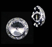 13mm Rondel Button with Crystal Rivoli Centre - 11790/13mm