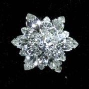 Navette Snowflake Button - #7562