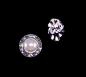 11mm Rondel Button with Imitation Pearl Centre - 11789/11mm