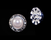 13mm Rondel Button with Imitation Pearl Centre - 11789/13mm