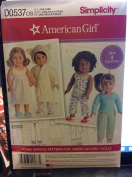 Simplicity American Girl Sewing Pattern DO537OS