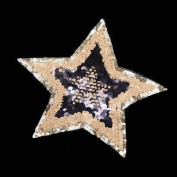 24cmx22cm Star Sequined Patch Embroidered Iron On Cute Patches For Kids Clothes Stickers 2pcs