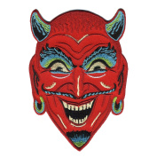 Retro-a-go-go Fun House Devil Embroidered Iron on Patch
