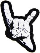 Satan Devil Horns Hand Sign Heavy Metal Satan Fingure Punk Rock Hippie Retro Jacket Patch Iron on Embroidered