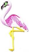 Flamingo Bird Animal Kid Jacket Polo T shirt Patch Sew Iron on Embroidered Badge Costume
