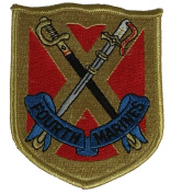FOURTH MARINE REGIMENT PATCH - Multi-coloured - Veteran Owned Business