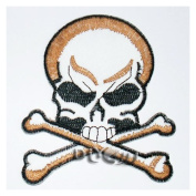 Skull crossbones Embroidered Sew or Iron On Patch Applique