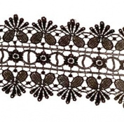 Cranberry Card Company 3 Metres Black Lace Trimming - Guipure Lace 85Mm Width