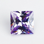 50PCS Size 3x3~10x10mm AAAAA Lavender Square Shape Princess Cut Europe Machine Cut Loose CZ Cubic Zirconia Gemstone
