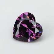 50PCS Size 3x3~10x10mm AAAAA Amethyst Heart Shape Europe Machine Cut Loose Cubic Zirconia CZ Stone For Jewellery Diy