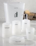 Neo Bathroom Accessory 6 Piece Set , Opaque White