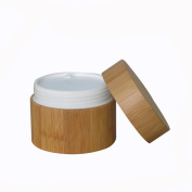 100ML Environmental Bamboo Body Empty Refillable Cosmetic Cream Jar Storage Bottle Container Bottle for Travel And Home